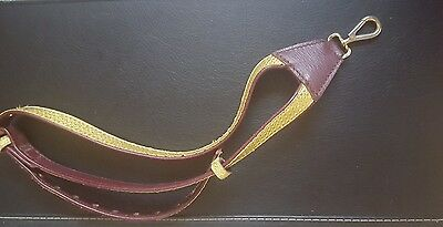 Gorgeous vintage sax neck strap gold embelishment
