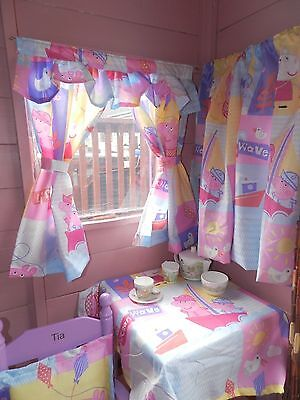 peppa and george playhouse, wendy den boys and girls curtains