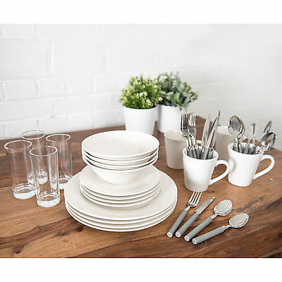Sabichi 36pc Dining Starter Set - Ideal For Students & 1st Time Buyers - 184511