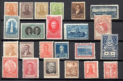 collection of 23 mint early stamps from argentina. late 18th/early 19th centuary