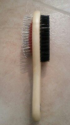 Double Sided Pet Grooming Wooden Brush Dog Cat Hair Fur Shedding Tool Comb Tidy
