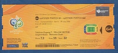 Orig.Ticket   World Cup Germany 2006   FINAL   ITALY - FRANCE  / VIP  !!  RARITY