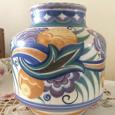 Early Poole, Carter Stabler Adams Large Vase. c1930. Rare. Shape No. 960.