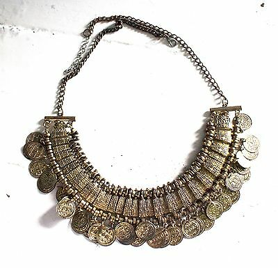 Tribal Fusion, Belly Dance, Coin Necklace, choker, Festival, Gypsy