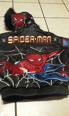 Spiderman Embroidered & hooded Bomber Jacket