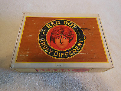 Cigar Box-Heavy Board-Red Dot Panetela-Federal Cigar Co, Red Lion, Pennsylvania