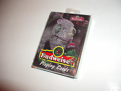 Vintage 1998 Budweiser Lizards Playing Cards Deck BRAND NEW SEALED poker lot
