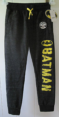 Boys Batman Jogger Sweat Pants Charcoal Heather Size XL Youth NWT Free Shipping.