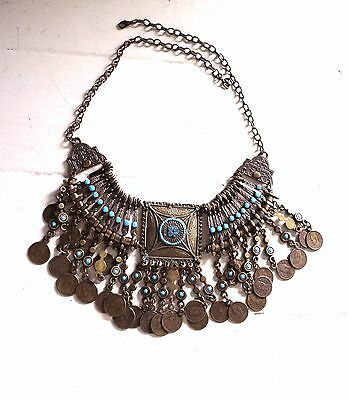 Belly dance, Tribal Fusion, dance Egyptian necklace, Antique Cleopatra costume