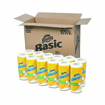 """Bounty 92976 Basic Paper Towels 10.19"""" x 10.98"""" 1-Ply White (Pack of 30) New"""