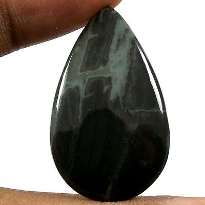 18.85 cts Natural Exclusive Designer Spiderweb Obsidian Pear Cabochon Gemstone