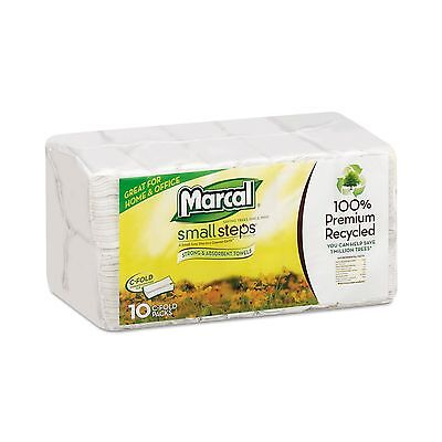 Marcal MAC 6724 MRC6724 Embossed Paper Towels C-Fold White (Pack of 1500) New