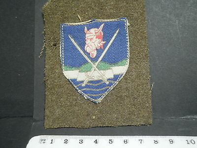 "ORIGINAL FORMATION BADGE EASTERN COMMAND 2nd PATT ""PRINTED"""