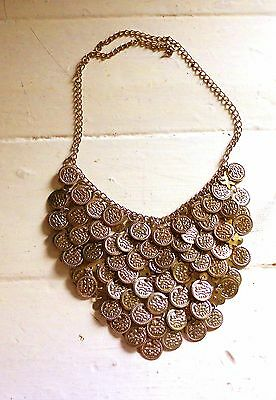 Belly Dance Nubian, Egyptian, Coin Necklace, Tribal Fusion, Tribal, Gold colour