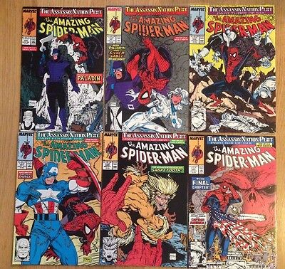 Amazing Spider-man # 320-325 Assassins Nation Plot (6 Comic set)