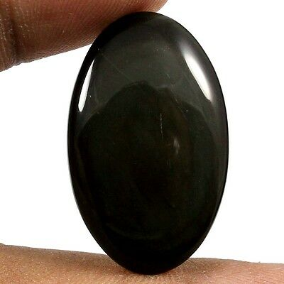 24.95 cts Untreated 100% Natural Rainbow Obsidian Oval Cabochon Loose Gemstone