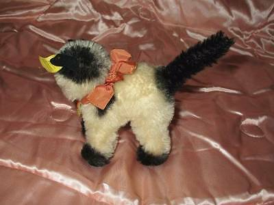 """Vintage Steiff Gussy Cat Kitten Kitty 4"""" All ID's Very Nice Condition"""
