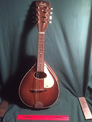 Stella Harmony Mandolin, For Parts, Back Damage, Decatur, Illinois