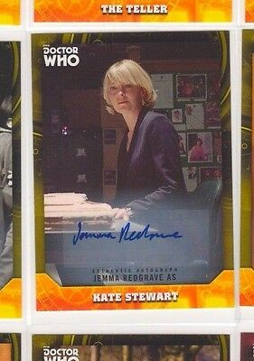 Jemma Redgrave As Kate Stewart 2017 Topps Doctor Who Signature Series Auto 04/25