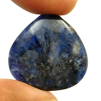 14.80 cts Natural Untreated Blue Sodalite Cabochon Heart Shape Loose Gemstone