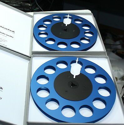 "+ NEW + 2 PRO AUDIO  EMPTY PRECISION METAL REEL 7"" (7 inch); 1/4"" TAKE UP REEL"