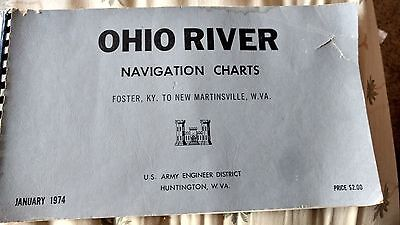 1974 Ohio River Navigation Charts Foster, KY to New Martinsville, WV