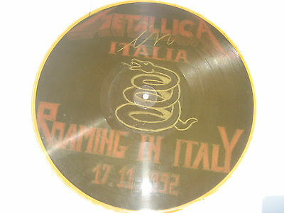 "Lp Picture Disc ""metallica Roaming In Italy 17/11/1992"" Italo Disco"