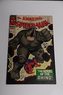 THE AMAZING SPIDER-MAN #41 1st APPEARANCE RHINO FINE+ MARVEL
