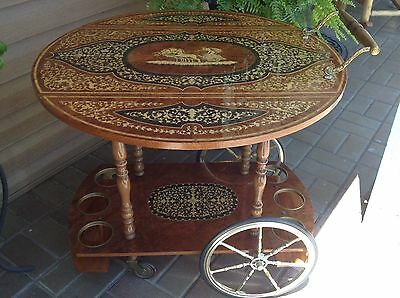 Vintage Italian Cocktail-Wine-Tea Serving Cart