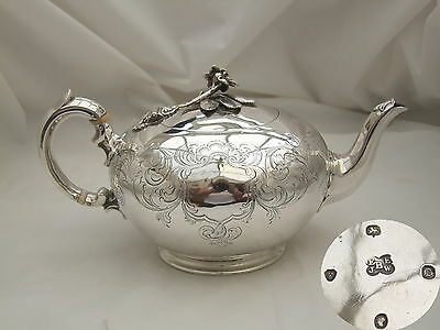 "Rare Victorian Hm Sterling Silver ""bullet"" Teapot 1839"