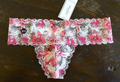 5d43f9dac2bb GILLY HICKS by Abercrombie Hollister PANTIES Thong Floral Lace Pink XS / S  NWT