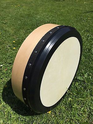 """16"""" Tunable Bodhrán. Maple wood with goat skin."""