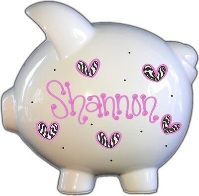 Piggy bank for Girls | Personalized Piggy Bank | Handpainted | Free Shipping