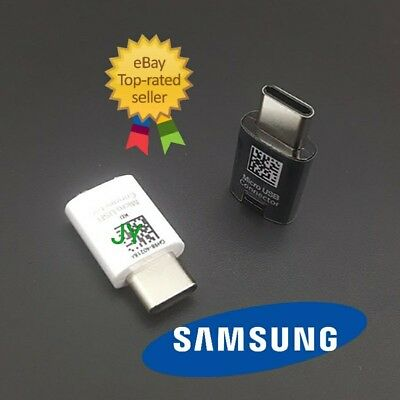 New Genuine USB Type-C Adapter Converter Connector For Samsung Note 8 S8 S8 Plus