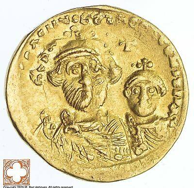 Genuine Ancient Byzantine Solidus 610-641 A.D. Heraclius *1840