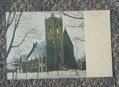 St. John's Church of England, Truro, NS vintage antique postcard