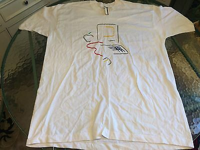 NWT Vintage 80's Macintosh Apple Lisa Picasso Logo T Shirt Size XXL Made In USA.