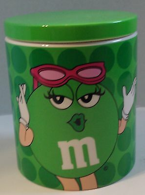 M&m's Green Girl Ceramic Cookie Candy Jar By Galerie