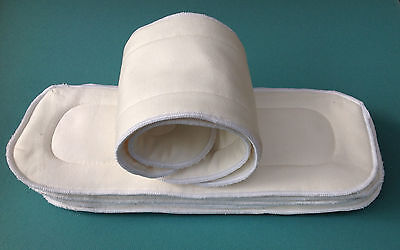 8 Bamboo Inserts Baby New Nappy Cloth Nappies Liners White 5-layers MCN Reduced