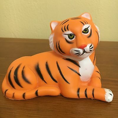 Vintage 1974 Plastic Toy Tiger R. Dakin & Company, San Francisco, Made Hong Kong