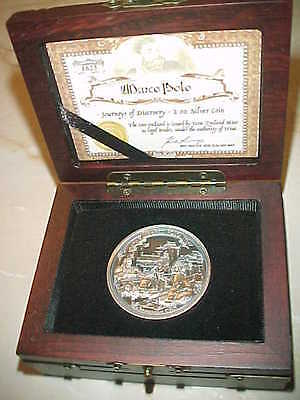 2015 Marco Polo 2 Ounce Silver Coin-Thick Milled Edge-Antique Finish-Low Mintage