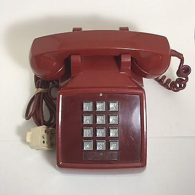 Vintage phone Cherry Red works Western Electric Bell Systems