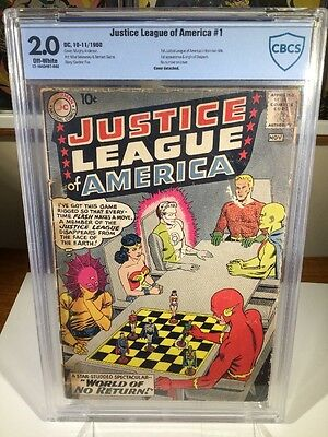 Justice League of America #1 (Oct-Nov 1960, DC) 2.0 CBCS