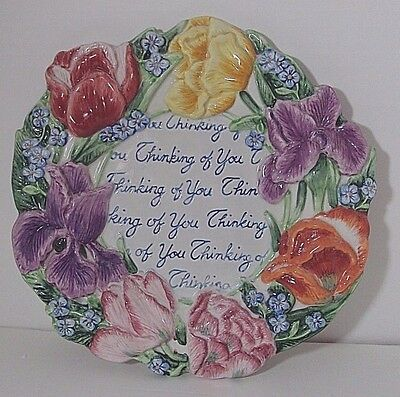 Fitz and Floyd Essentials Spring Bouquet Thinking of You Plate Great Gift