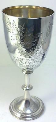 Victorian hallmarked Silver 22.5cm Trophy Goblet/Cup – 1886 (not inscribed)
