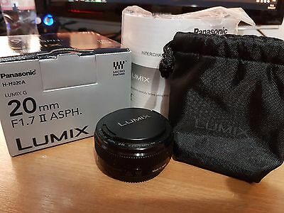 Panasonic Lumix G 20mm F/1.7 MK2 Aspherical Lens - BOXED - Great Condition
