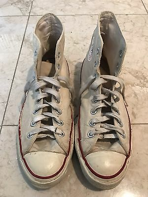 Vtg 1960s Converse White High Top Made In USA Size Men 9