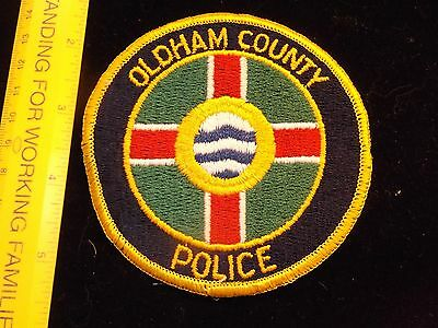 Kentucky Oldham County Police patch 1980s vintage older defunct issue HTF