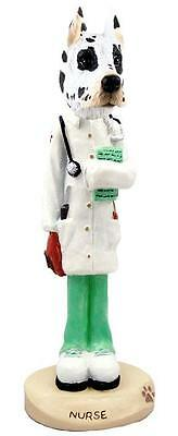 Harlequin Great Dane Nurse Collectible Resin Figurine