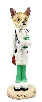 Chihuahua Nurse Hand Painted Collectible Resin Figurine Statue